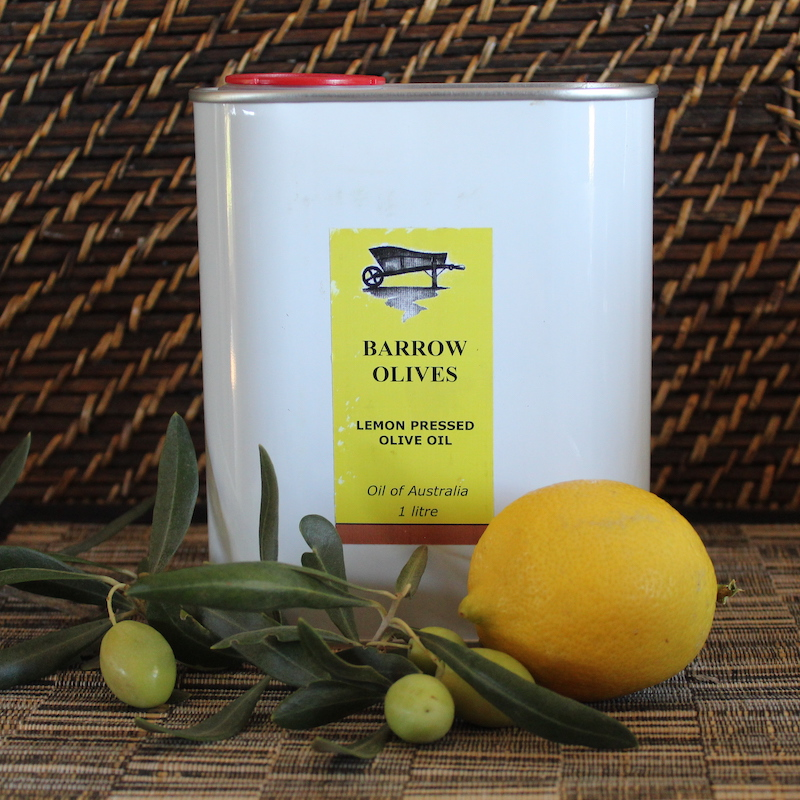 Pressed Lemon Olive Oil Can 1 litre